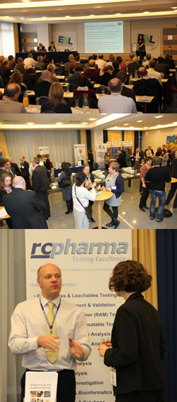Mark Perkins on the RC Pharma stand in Vienna