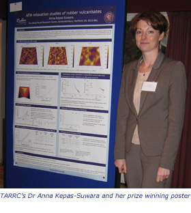Dr Anna Kepas-Suwara and her prize winning poster
