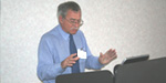 TARRC's Roland Newell gives his presentation at the seminar